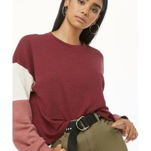 FOREVER21 Maroon Sweater